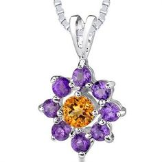 Beautiful Citrine and Amethyst Pendant, would love to make it.