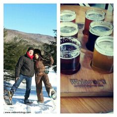 Snowshoeing or Brewery Tour for Valentine's Day? Which would you choose? http://vermontology.com/ #guidedtours #tours #vttours #travel #fun #vermont #newengland #snowshoetours #snowshoe #snow #brewery #brewerytour #ValentineDay