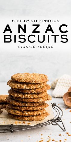 Anzac Biscuits with step-by-step photos | Eat, Little Bird #anzac #anzacbiscuits