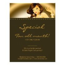 1000 images about salon flyer template design on for Acapulco golden tans salon