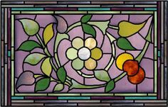 Art Nouveau Circa: 1890-1914 Period Colors Stained Glass