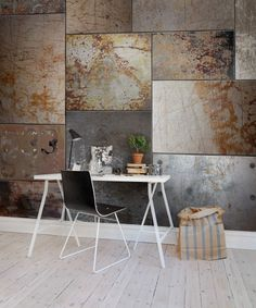 Steel wall murals - wallpaper | Rebel Walls