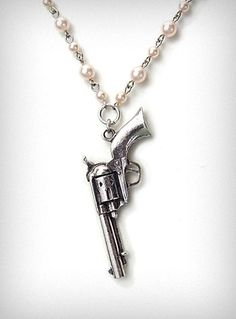 Pearl Revolver Necklace- just recently bought my revolver. Goes to show you can be girly, yet hang with the big boys.