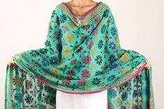 Classic Phulkari Embroidery Georgette Dupatta – iTokri आई.टोकरी
