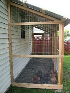 Chicken coop attached to your garage? Looks a nice design and I love that they posted pictures of the whole building process. Chicken Pen, Chicken Coup, Chicken Life, Best Chicken Coop, Backyard Chicken Coops, Chicken Coop Plans, Building A Chicken Coop, Backyard Farming, Chickens Backyard