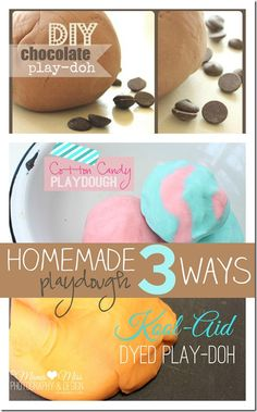 Homemade Playdough 3 Ways {mama♥miss} ©2012