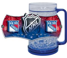 ** Check out this great image : NHL New York Rangers Freezer Mug at Coffee World Coffe.
