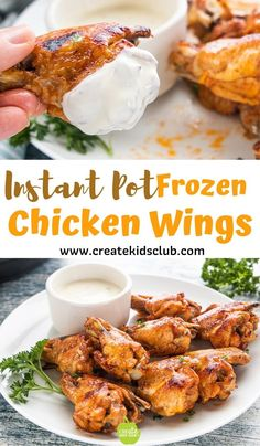 frozen chicken instant pot recipes The BEST Easy Instant Pot Chicken Wings made from frozen chicken are simple to make and taste amazing. These bbq wings can be made spicy or not too spicy by adjusting the ingredients in the honey bbq sauce. Pressure Cooker Chicken Wings, Instant Pot Pressure Cooker, Pressure Cooker Recipes, Frozen Chicken Wings, Bbq Chicken Wings, Bbq Wings, Easy Chicken Wing Recipes, Frozen Chicken Recipes, Instapot Chicken Wings