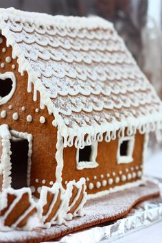 gingerbread cottage.