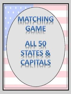 Matching Game - States & Capitals