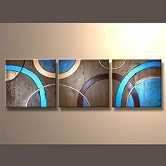 Ready to Hang Modern Abstract Grouped and Stretched Canvas Oil Painting Abstract Geometric Art, Abstract Canvas Art, Diy Canvas Art, Acrylic Painting Canvas, Panel Art, Stretched Canvas, Constructivism, Paintings, Ideas