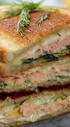 Smoked Salmon Gruyere Grilled Cheese