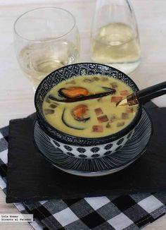 Receta de sopa de mejillones en crema
