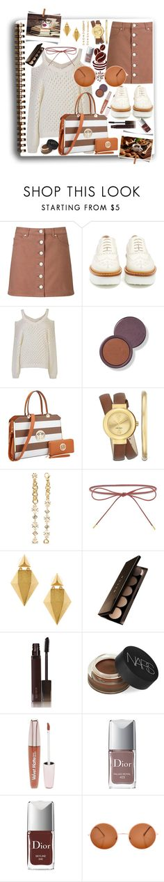 """""""It's Coffee Time"""" by shewalksinsilence ❤ liked on Polyvore featuring Miss Selfridge, Tod's, Gestuz, Dasein, Nine West, Dsquared2, Elizabeth and James, Stephanie Kantis, Becca and Laura Mercier"""