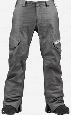 Burton GMP 2L Fireside Snowboard Pant in True Black/Stout White