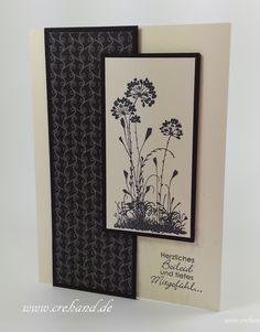 Trauerkarte / Vanille Schwarz Serene Silhouettes / Zeitlos Elegant