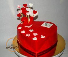 Heart Shaped Cakes, Heart Cakes, Aniversary Cakes, Dhokla Recipe, White Cakes, Love Cake, Whipped Cream, Caption, Red And White