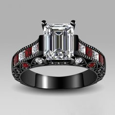 Emerald Cut Created White Sapphire Rhodium Plated Women's Engagement Ring/Wedding Ring