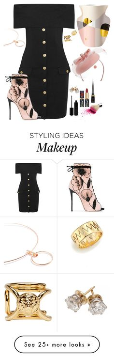 """Betting Stakes"" by chelsofly on Polyvore featuring Pierre Balmain, Marc Jacobs, Christian Louboutin, Giuseppe Zanotti, Octaevo, Annelise Michelson, Versus, Nordstrom, Spring and kentuckyderby"