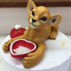 Lion Cakes, Themed Cakes, Scooby Doo, Teddy Bear, Toys, Sweet, Animals, Fictional Characters, Art
