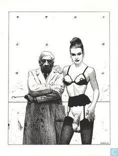 Comic ex-libris and prints - Print - Histoire d