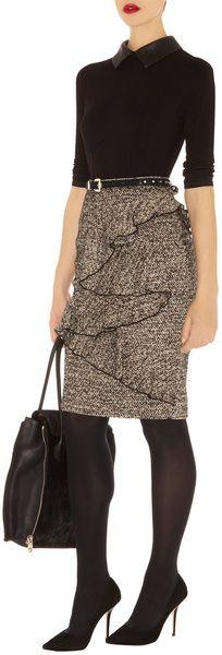 Karen Millen | Gray Woolly Tweed Skirt