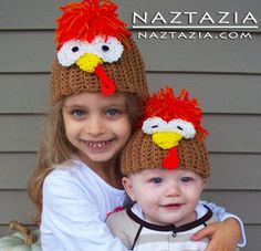 Crochet Turkey Bird Hat