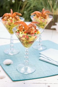 Caribbean Shrimp Cocktail - Served these in martini glasses at Lauren's wedding! Beautiful presentation and delicious!