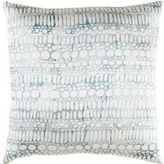 Shell Rummel Natural Affinity Silk Pillow Cover Color: White/Gray