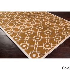Hand-tufted Karen Contemporary Geometric Wool Area Rug (3'3 x 5'3) (