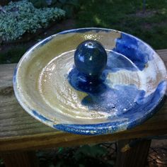 $.99 handmade pottery candy dish. Signed. Found at Goodwill.