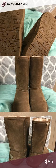 Fairly new BEARPAW boots Fairly used tan BEARPAW boots. They have been worn 2-3 times at the most. They are very warm and comfortable, I just never really was into fur boots. BearPaw Shoes Winter & Rain Boots