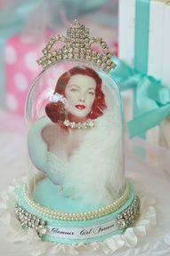 Glamour Girl in glass dome...