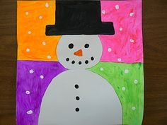 colorful snowman art project - Google Search