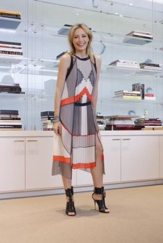 """Haute graphic. Make an entrance in a graphic pleated dress."" -Lubov Azria  #BCBG #LubovAzria #LOD"