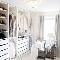 Ikea 'Pax' open closet @golden_ellie