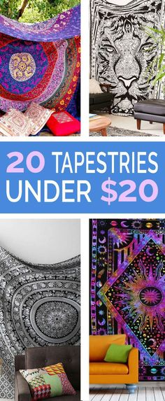 20 Tapestries Under $20 That Will Make Any Room Complete - Love these cheap tapestries for your college dorm room