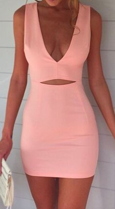 pink mini dress. #datenight