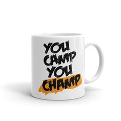 Whether you're drinking your morning coffee, your evening tea, or something in between – this mug's for you! It's sturdy and glossy with a vivid print that'll withstand the microwave and dishwasher. The ultimate gift for camping lovers Camping In Texas, Camping World, Sequoia National Park Camping, Customised Mugs, The Ultimate Gift, Gifts In A Mug, Gift Mugs, Morning Coffee, Best Gifts