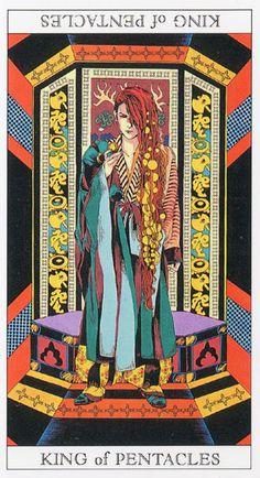 Love and Mystery Tarot by Yoshitaka Amano: King of Pentacles