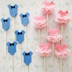 Tutus & Bow Ties Cupcake Toppers by MaddieDaBear on Etsy