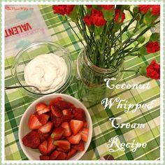 Coconut Whipped Cream Recipe #Vegan #DairyFree