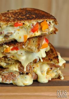 Sausage and Pepper Chipotle Grilled Cheese...