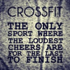 Daryl and I start Crossfit next month! We can't wait to enter the Crossfit family. Crossfit Quotes, Crossfit Humor, Crossfit Motivation, Fitness Quotes, You Fitness, Health Fitness, Crossfit Gym, Workout Humor, Exercise Quotes