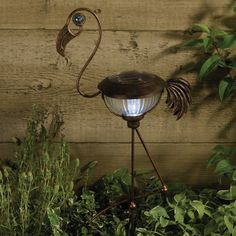 Flamingos = fun. Solar garden lighting needn't be boring, and the Solar Powered Metal Flamingo is anything but http://www.glow.co.uk/solar-metal-flamingo.html