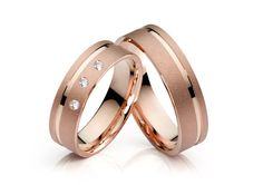 Wedding rings / wedding rings Witten - 750 red gold - Another! Gold Wedding Rings, Wedding Bands, Gold Rings, Couple Ring Design, Couple Bands, Engagement Rings Couple, Matching Rings, Bridal Accessories, Red Gold
