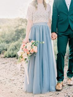 Space 46 maxi tulle skirt, engagement photo, desert engagement, Style Me Pretty