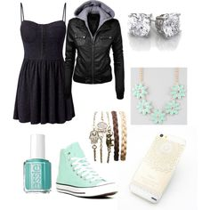 Date Night by lilyerkander on Polyvore featuring Madam Rage, Converse, Full…