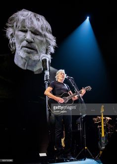 Roger Waters performs during the US + THEM 2017 Tour at The Palace of Auburn Hills on August 2, 2017 in Auburn Hills, Michigan.