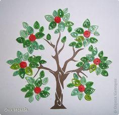 Картина, панно, рисунок Квиллинг: Дерево Бумага, Бумажные полосы. Фото 2